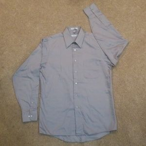 GEOFFREY BEENE SZ 34/35 SATEEN MEN'S DRESS SHIRT